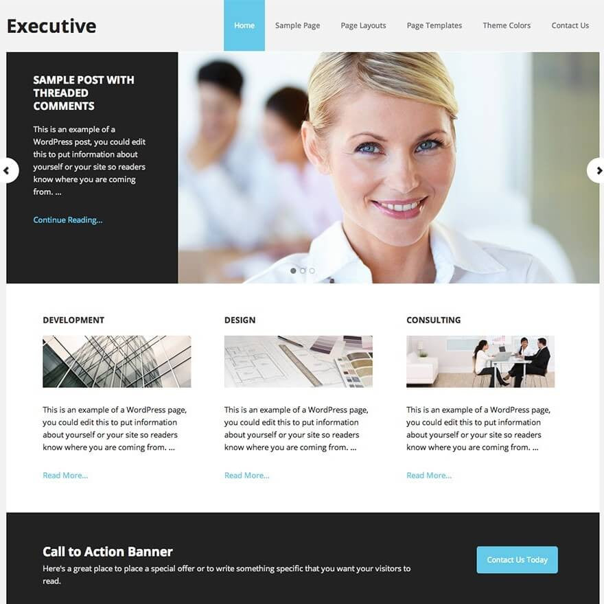 Executive Pro Studiopress Template