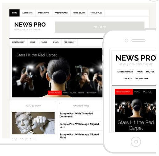 News Pro Studiopress Template