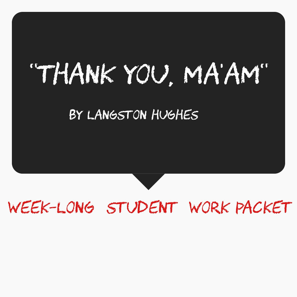 Thank You, Ma'am Lesson Plan Pack