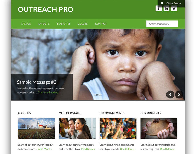 Outreach Pro Studiopress Theme