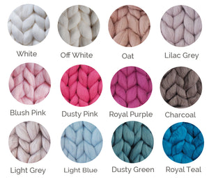 Merino Wool Chunky Knit Throws