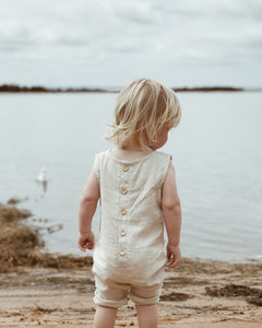 Linen Romper - Ready to Ship