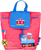 Wildkin Drawstring Quilted Backpack, Trains, Planes & Trucks