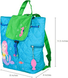 Wildkin Drawstring Quilted Backpack, Mermaids