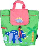 Wildkin Drawstring Quilted Backpack, Dinosaur Land