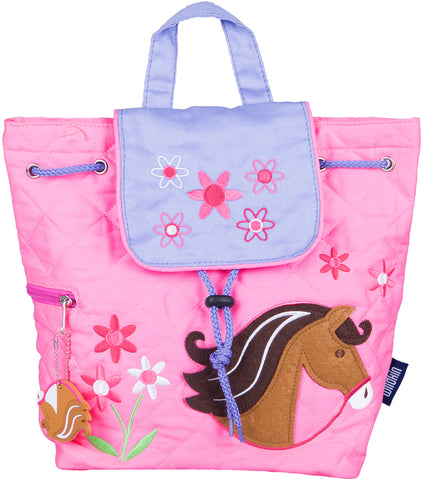 Wildkin Drawstring Quilted Backpack, Horses