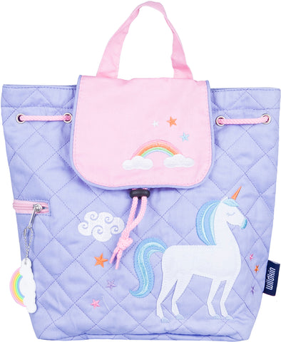 Wildkin Drawstring Quilted Backpack, Unicorn