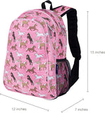 Wildkin 15 Inch Backpack, Horses in Pink