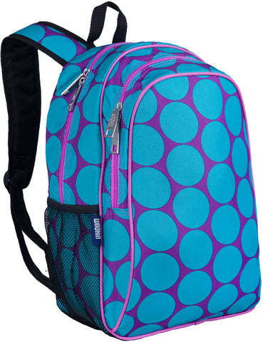 Wildkin 15 Inch Backpack, Big Dot Aqua