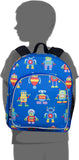 Wildkin Pack 'n Snack 12 Inch Backpack, Robots