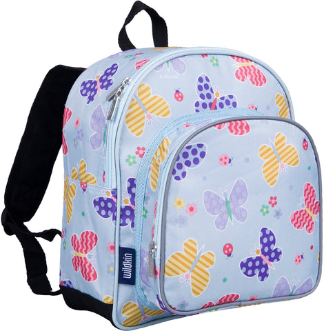 Wildkin Pack 'n Snack 12 Inch Backpack, Butterfly Garden