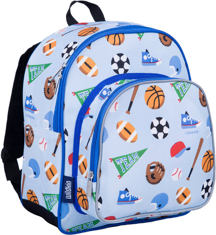 Wildkin Pack 'n Snack 12 Inch Backpack, Game On