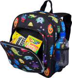 Wildkin Pack 'n Snack 12 Inch Backpack, Monsters
