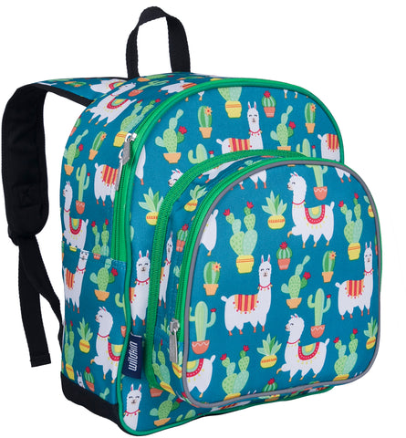 Wildkin Pack 'n Snack 12 Inch Backpack, Llamas and Cactus