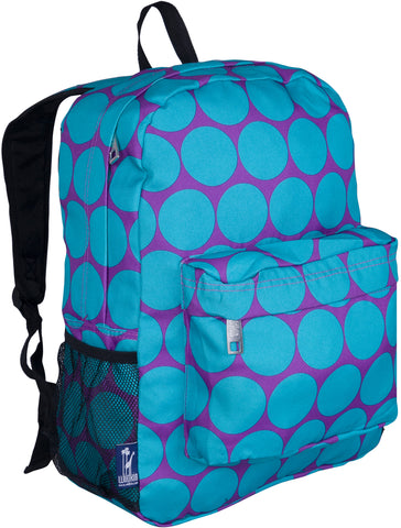 "Wildkin Crackerjack 16"" Backpack, Big Dot Aqua"