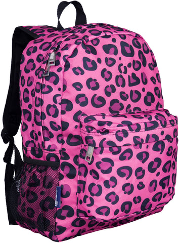 "Wildkin Crackerjack 16"" Backpack, Pink Leopard"