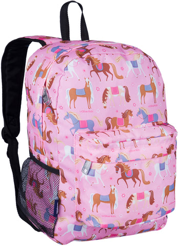 "Wildkin Crackerjack 16"" Backpack, Horses"