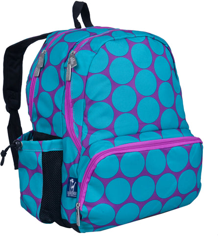 Wildkin Megapak 17 Inch Backpack, Big Dot Aqua