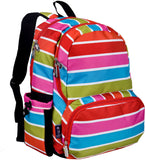 Wildkin Megapak 17 Inch Backpack, Bright Stripes