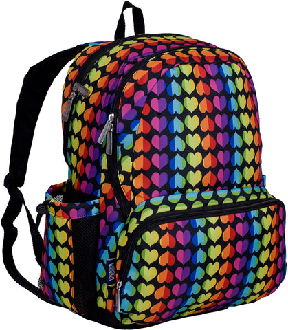 Wildkin Megapak 17 Inch Backpack, Rainbow Hearts