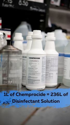 1L of Chemprocide, made in Delta, BC, and sold at both the Vancouver and Surrey Fine Edge Locations