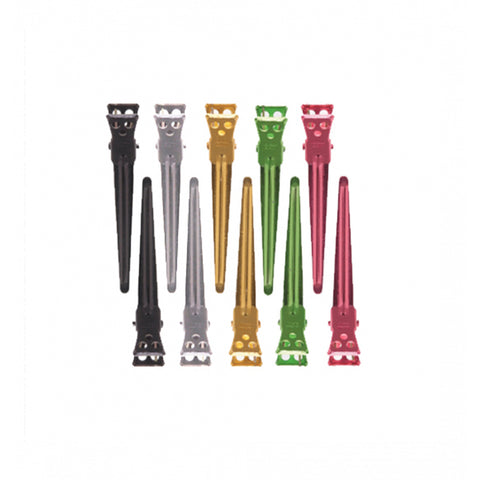 Y.S.PARK MEDIUM CLIPS 10PCS ASSORTED COLOURS