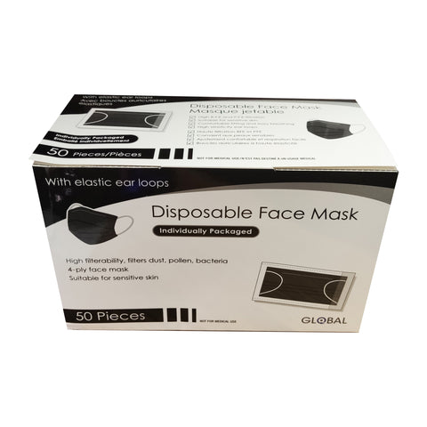 4 Layer Disposable Mask (Black)