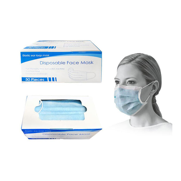 3 Layer Disposable Mask (Blue)