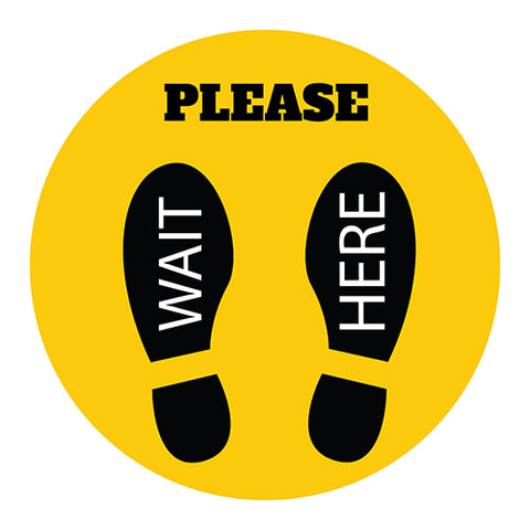 Please wait here Sticker