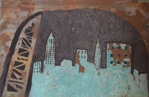 Abstract Cleveland Patina Skyline - Shirley's Loft - 2