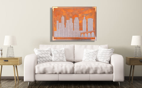 Cleveland Skyline with Steel Frame - Shirley's Loft - 1