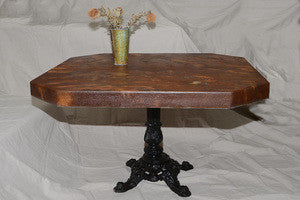 Hammered Rust Table - Shirley's Loft