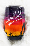 Wanderlust Desert Tumbler ~ 15 Ounce Stainless Steel Stemless Wine Glass