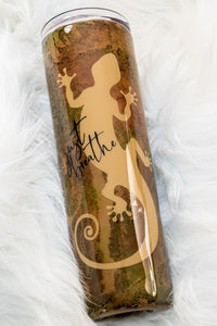 Painted Gecko Just Breathe ~ 20 Ounce Stainless Steel Tumbler
