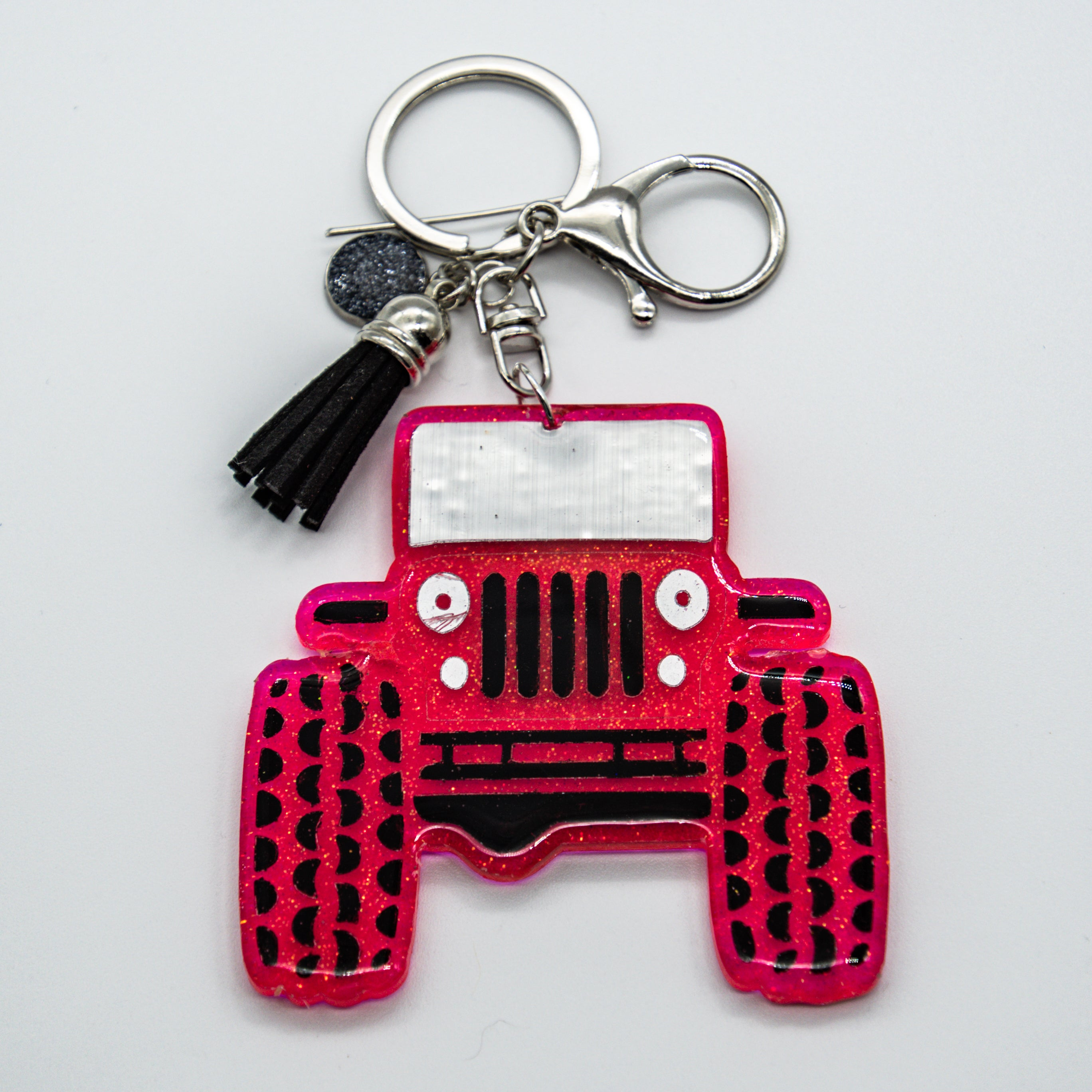 HER HOT PINK JEEP