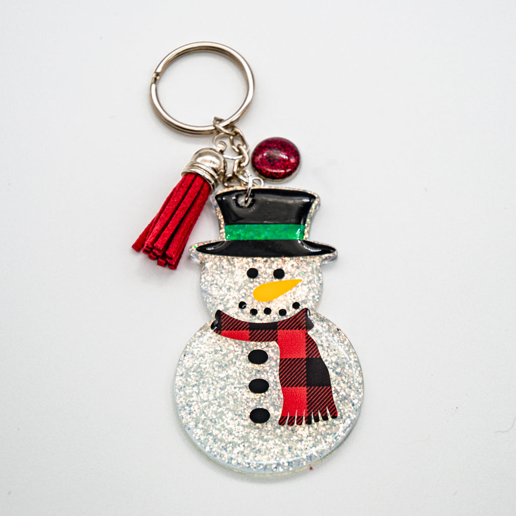 MR. SNOWMAN WITH RED PLAID SCARF
