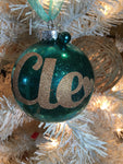 "Large Teal and Gold 4"" Signature Ornament - Holiday Glitz Collection"