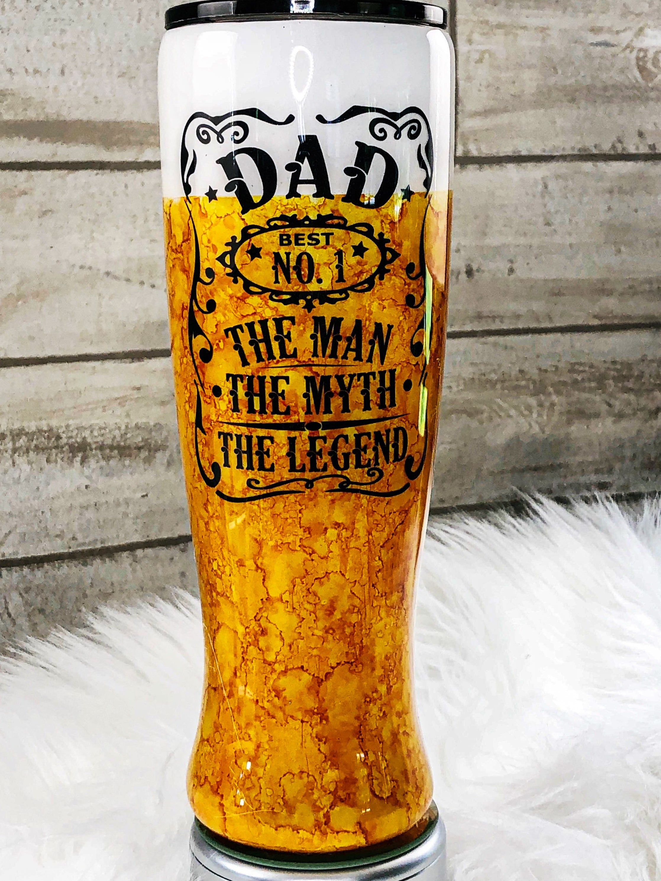 Hand Painted Stainless Steel Pint Tumbler