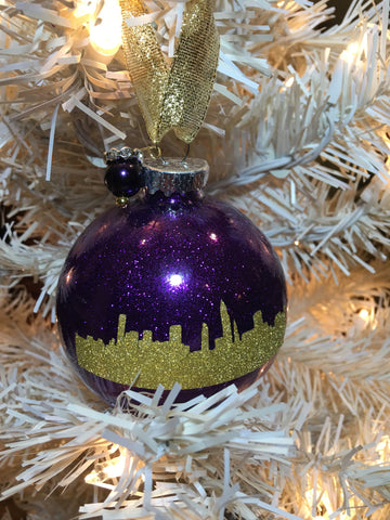 "Medium Violet 3"" Signature Ornament - Holiday Glitz Collection"