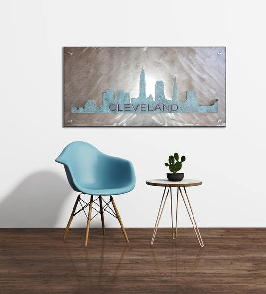 Patina Skyline on Metal - Shirley's Loft - 1