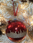 "Large Christmas Red 4"" Signature Ornament - Holiday Glitz Collection"