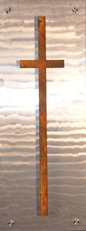 Rusted Cross on Metal - Shirley's Loft - 2