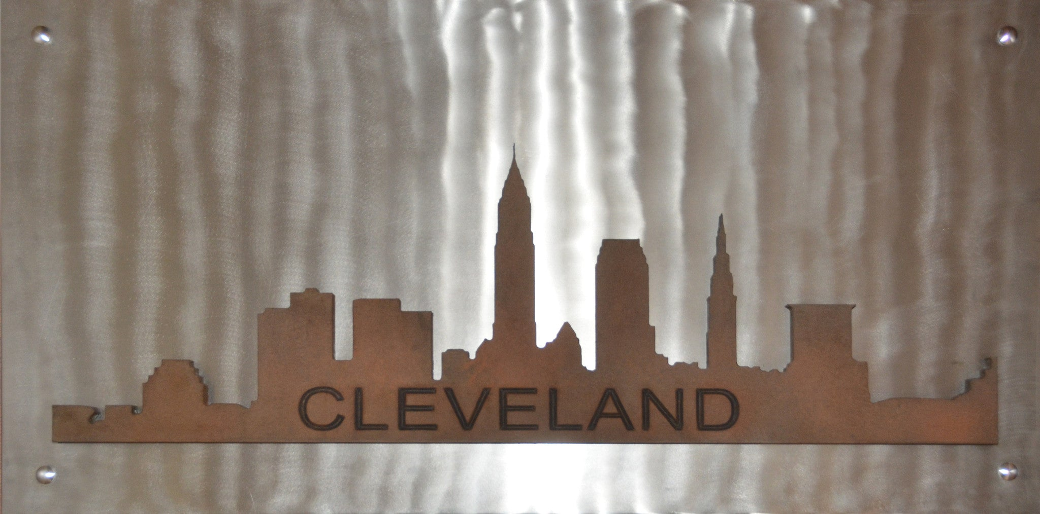 Cleveland Skyline on Metal - Shirley's Loft - 1