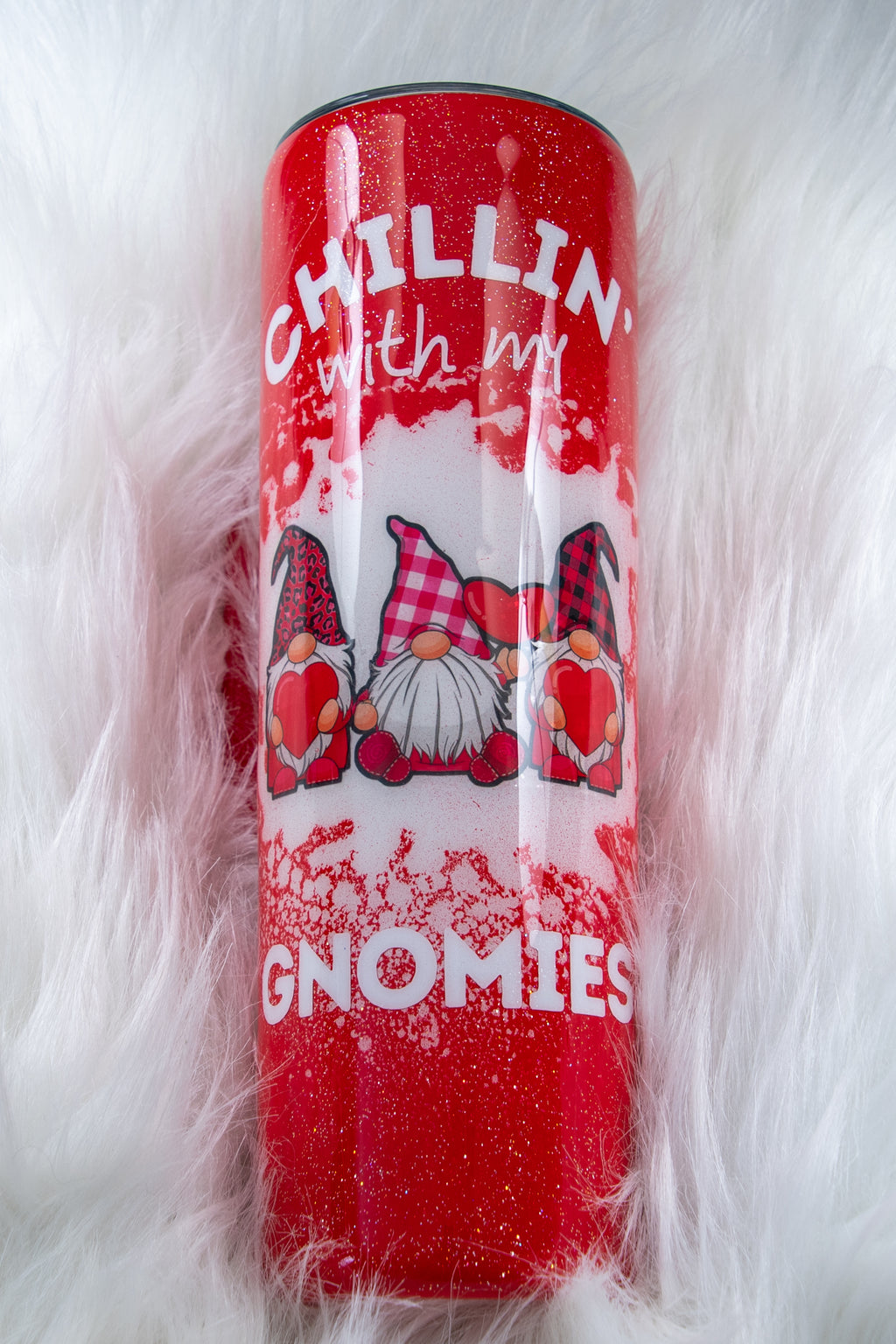 Beautiful Red Gnome Tumbler