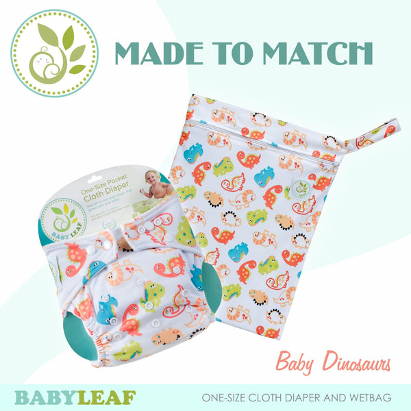 Baby Dinosaurs Made to Match Cloth Diaper Set
