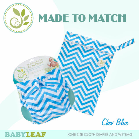 Chev Blue Made to Match Cloth Diaper Set
