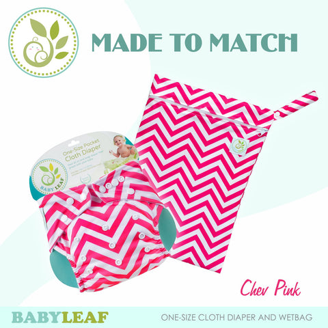 Chev Pink Made to Match Cloth Diaper Set