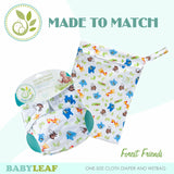 Forest Friends Made to Match Cloth Diaper Set
