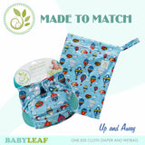 Up and Away Made to Match Cloth Diaper Set