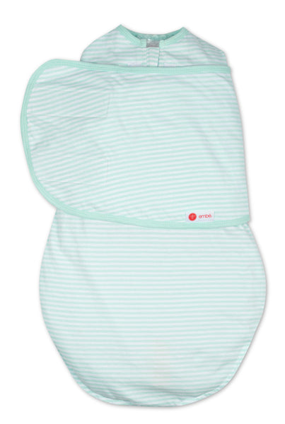 EMBE CLASSIC 2-Way Swaddle (Mint Stripe)